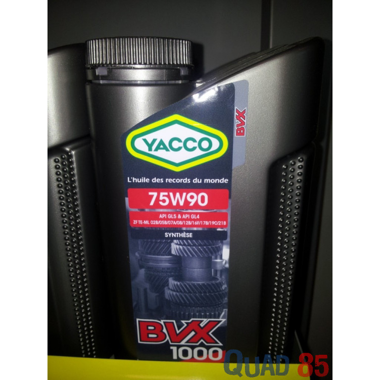 HUILE TRANSMISSION YACCO 75W90 SYNTHESE